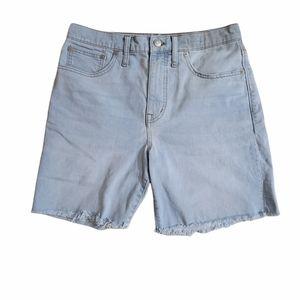 Madewell High Rise Denim Mid Length Shorts